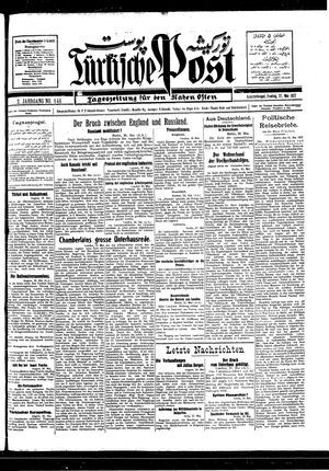 Türkische Post vom 27.05.1927