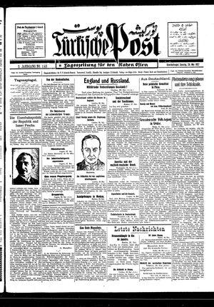 Türkische Post vom 29.05.1927