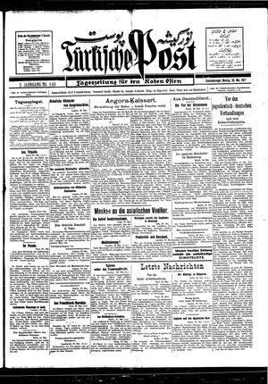 Türkische Post vom 30.05.1927