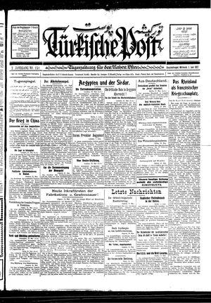 Türkische Post vom 01.06.1927