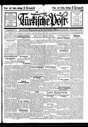 Türkische Post vom 05.06.1927
