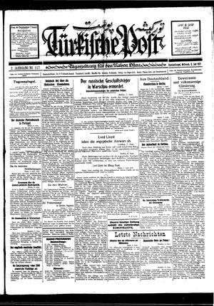 Türkische Post vom 08.06.1927