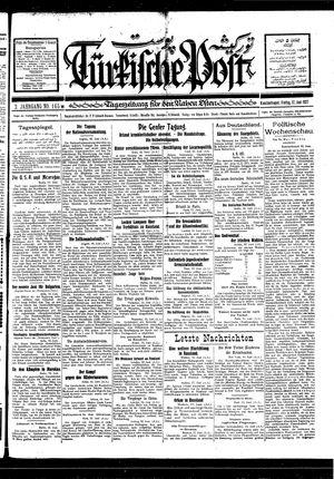 Türkische Post vom 17.06.1927