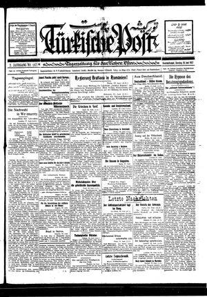Türkische Post vom 19.06.1927