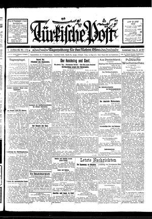 Türkische Post vom 24.06.1927