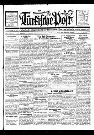 Türkische Post vom 25.06.1927