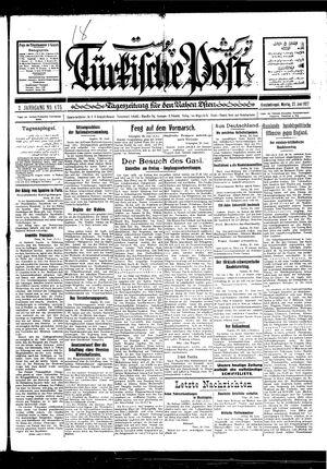 Türkische Post vom 27.06.1927