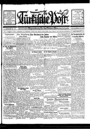 Türkische Post vom 29.06.1927