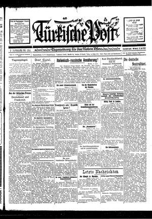 Türkische Post vom 06.07.1927