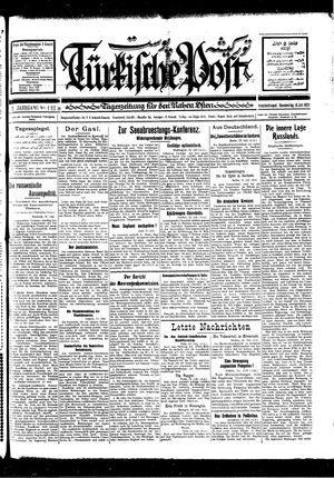 Türkische Post vom 14.07.1927