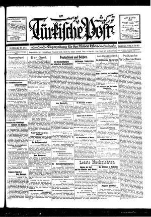 Türkische Post vom 15.07.1927