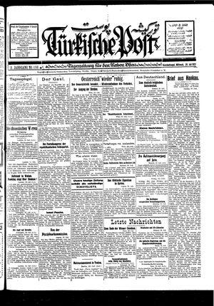 Türkische Post vom 20.07.1927