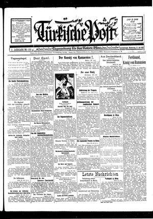 Türkische Post vom 21.07.1927
