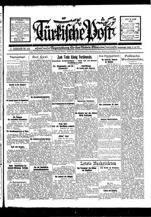 Türkische Post vom 22.07.1927