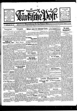 Türkische Post vom 23.07.1927