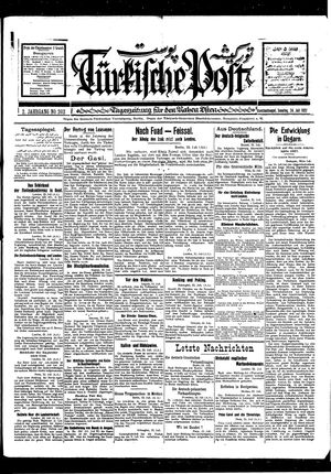 Türkische Post vom 24.07.1927