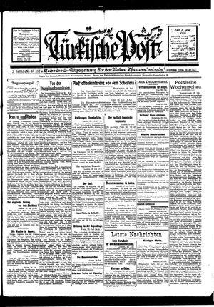 Türkische Post vom 29.07.1927