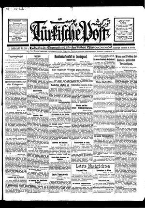 Türkische Post vom 30.07.1927
