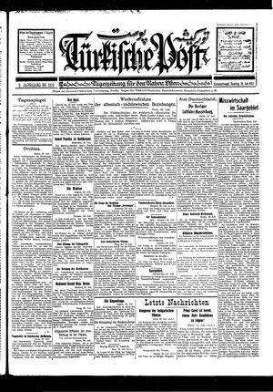 Türkische Post vom 31.07.1927