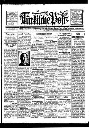 Türkische Post vom 02.08.1927