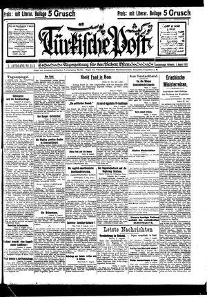 Türkische Post vom 03.08.1927