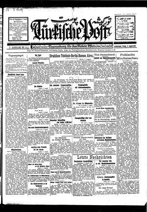 Türkische Post vom 05.08.1927