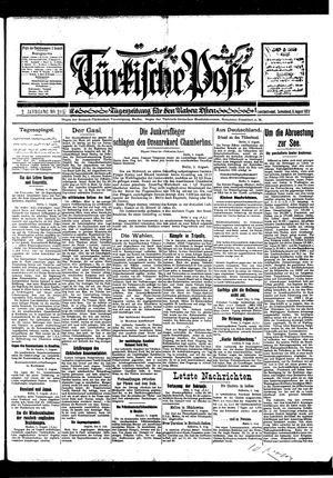 Türkische Post vom 06.08.1927
