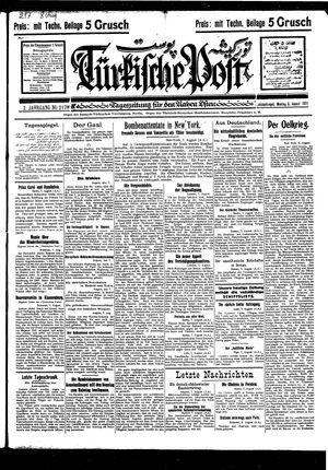 Türkische Post vom 08.08.1927