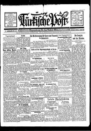 Türkische Post vom 09.08.1927