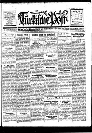 Türkische Post vom 10.08.1927