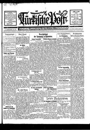 Türkische Post vom 12.08.1927