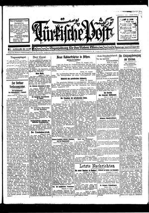 Türkische Post vom 13.08.1927