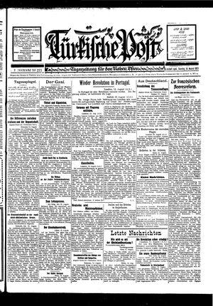 Türkische Post vom 14.08.1927