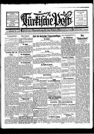 Türkische Post vom 15.08.1927