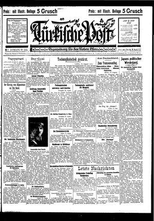 Türkische Post vom 16.08.1927