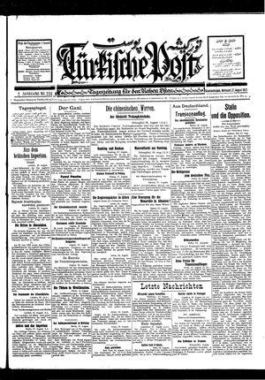 Türkische Post vom 17.08.1927