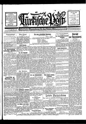 Türkische Post vom 18.08.1927