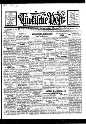 Türkische Post vom 19.08.1927