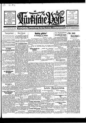Türkische Post vom 20.08.1927
