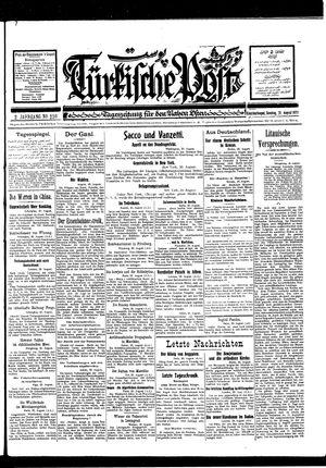 Türkische Post on Aug 21, 1927