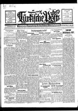 Türkische Post vom 22.08.1927
