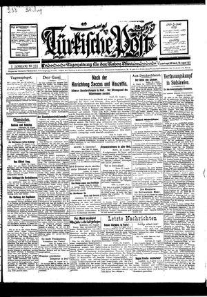 Türkische Post vom 24.08.1927
