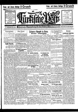 Türkische Post vom 25.08.1927