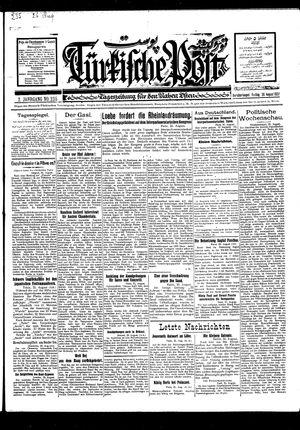 Türkische Post vom 26.08.1927