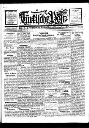 Türkische Post vom 27.08.1927