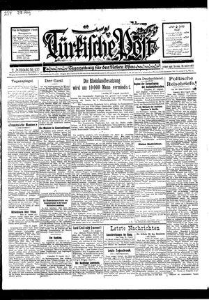 Türkische Post vom 28.08.1927
