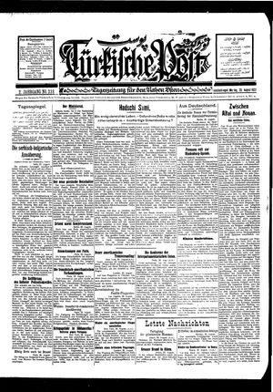 Türkische Post vom 29.08.1927