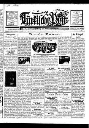 Türkische Post vom 30.08.1927