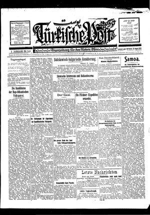 Türkische Post vom 31.08.1927