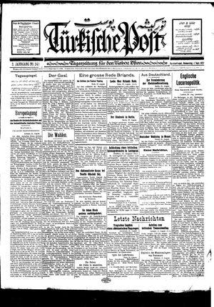 Türkische Post vom 01.09.1927